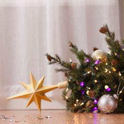 Christmas tree on floor