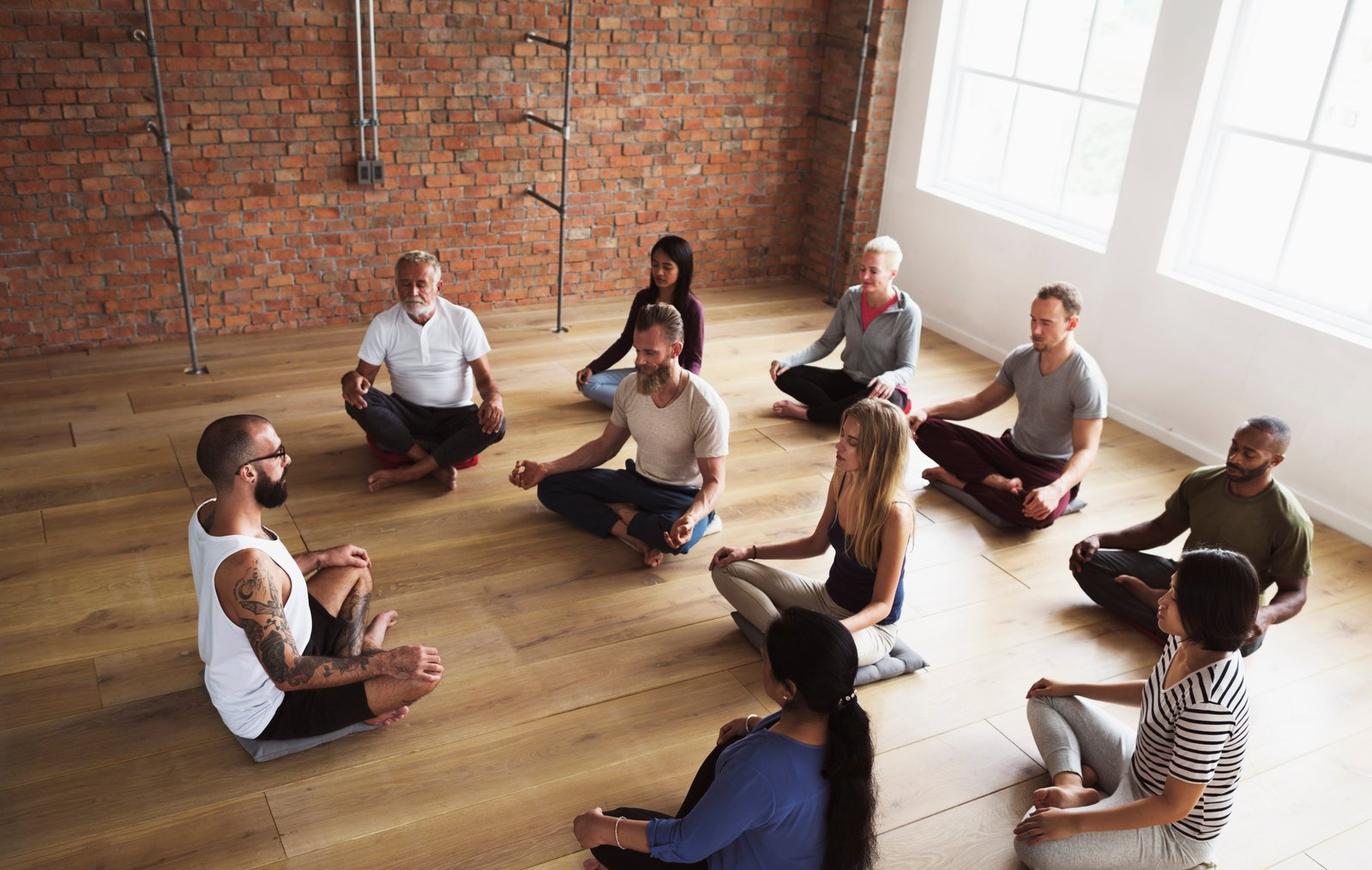 Guided meditation classes at work